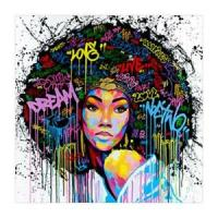 African WomAn Portrait Canvas Wall Oil Painting Art Living ...