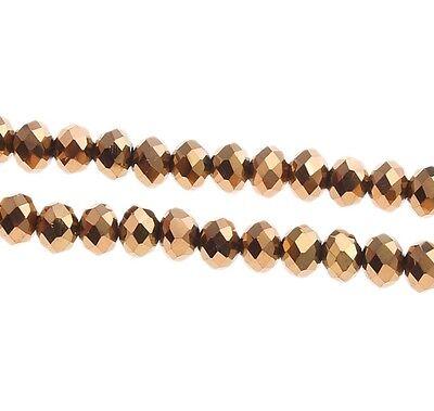 25 cristallo ceco perline di vetro sfaccettate 6mm Fire
