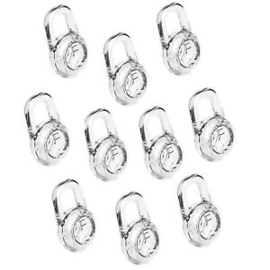 EHT Earbud Gel for Plantronics 10 Pcs Clear Replacement