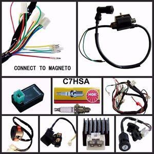 lei quad bike wiring diagram leviton cat5e jack 50 70 90 110 125cc cdi wire harness stator assembly set atv image is loading