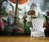 Alice in Wonderland Wall Art Wall Mural Self Adhesive ...