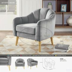 Tub Accent Chair Glider Rocking Replacement Cushions Uk Club Barrel Velvet Contemporary Lounge Armchair Single Sofa Furniture
