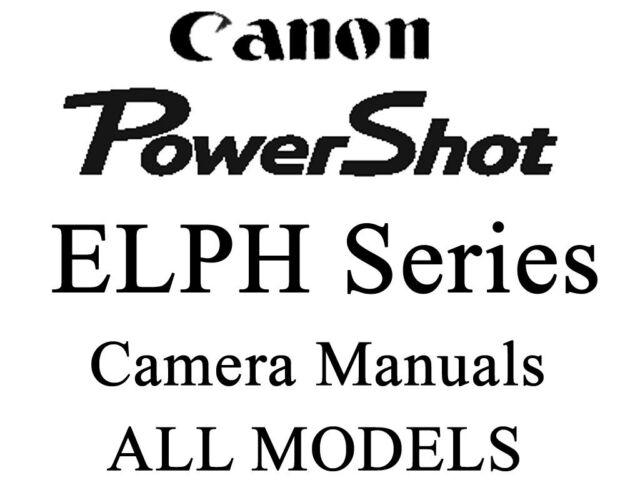 Canon PowerShot ELPH IXUS Instruction Manual (ELPH & IXUS