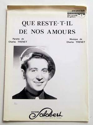 Paroles Que Reste T Il De Nos Amours : paroles, reste, amours, Partition, Sheet, Music, CHARLES, TRENET, Reste-t-il, Amours