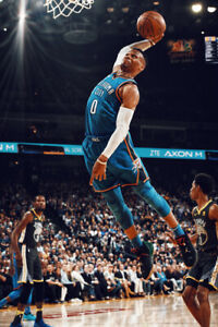 details about russell westbrook flight art wall indoor room outdoor poster poster 24x36