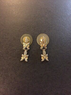 Dl 925 : Sterling, Silver, Vermeil, Diamond, Dangle, Earrings