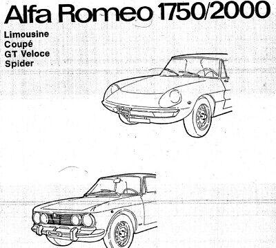 Alfa Romeo 1750-2000 Werkstattreparaturleitfaden
