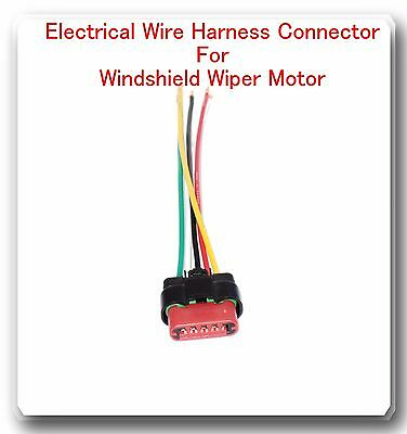 5 wire harness pigtail connector for windshield wiper motor