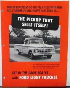65 Ford Pickup : pickup, Pickup, Truck, Sales, Folder, Dealer, Salesman, Original