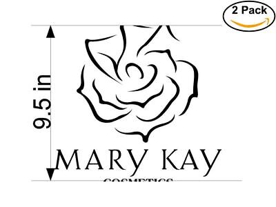 Mary Kay Cosmetics 2 2 Stickers 9.5 inches Sticker Decal