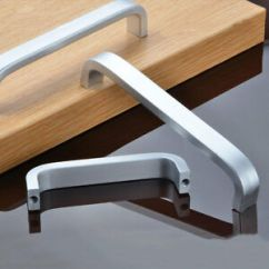 Aluminum Kitchen Cabinets Science 2 8 Space Cabinet Handles U Bar Pull Hardware Ebay Image Is Loading 034