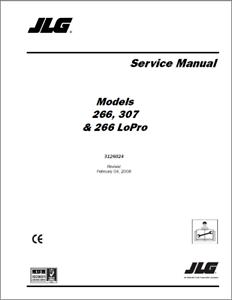 JLG Telehandlers 266, 307 & 266 LoPro Service Manual (0373