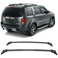 Fit For 09-15 Honda Pilot OE Black Top Roof Rack Cross Bar ...