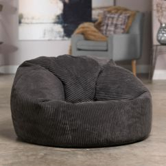 Living Room Bean Bags How To Decorate A Jumbo Cord Fabric Soft Bag Chair Seat Lounger Luxury X Large Adult Charcoal Grey