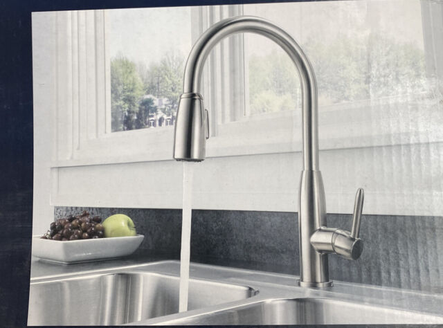 peerless p188103lfss stainless apex widespread pulldown kitchen faucet with soap dispenser p188103lf