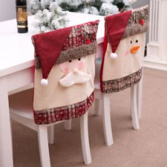 Christmas Chair Covers Ebay Round Living Room Chairs Cover Santa Claus Snowman Decorations For Home Image Is Loading