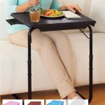 Portable Tv Tray Table W Cup Holder Adjustable Folding Multipurpose Table Maid