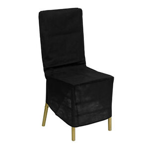 chiavari chair covers ebay fishing side table black fabric storage cover image is loading