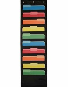 Image is loading heavy duty wall file chart  stitched hanging also paper organizer rh ebay