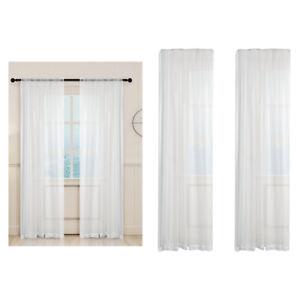 details sur 2xnet voilages fenetre rideau panneau pour balcon chambre blanc 100x200cm