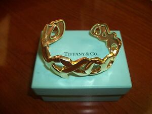 583a9d3bb Large Tiffany Co Paloma Picasso Solid 18k Gold Xo Cuff