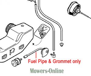 Genuine Stihl Hedgetrimmer Fuel Hose Pipe & Grommet 4226