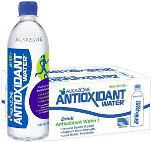 Alkazone Antioxidant 9.5 pH Alkaline Bottled Water 16.9 oz ...