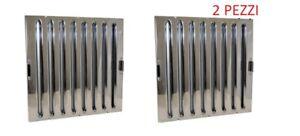 Dettagli Su 2 Filtri 40x40x2 In Acciaio Inox A Labirinto Filtro Cappa Ristorante Nuovo
