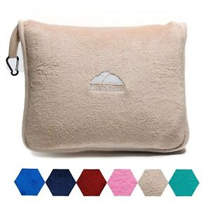 details about bluehills soft airplane large travel blanket with hand luggage belt beige