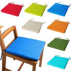 Chairs Cushion Pads Ed Gein Chair Italian Fabric Cushions With Ties Seat Image Is Loading