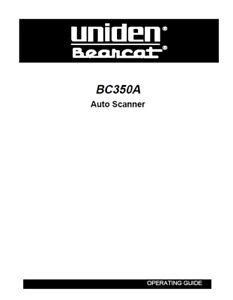 Uniden BC 350A Bearcat Emergency / Marine Scanner Radio