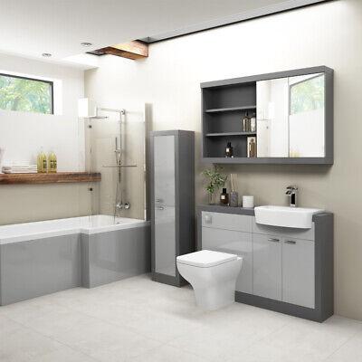 1200mm Modern Bathroom Vanity Basin Toilet Mirror Storage Unit Bath Suite Option Ebay