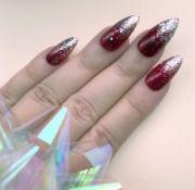 hand painted false nails stiletto