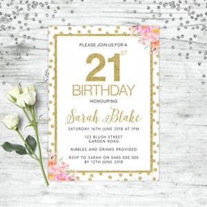 21st Birthday Invitations Party