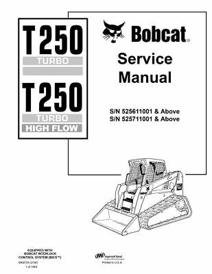 NEW Bobcat T250 Workshop Service Repair Manual 6902724