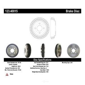 Rear Brake Drum For 2000-2006 Honda Insight 2002 2001 2003