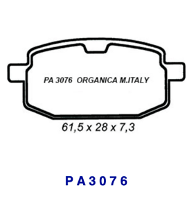 Pa3076 brake pads front organic for adly silver fox 100 00