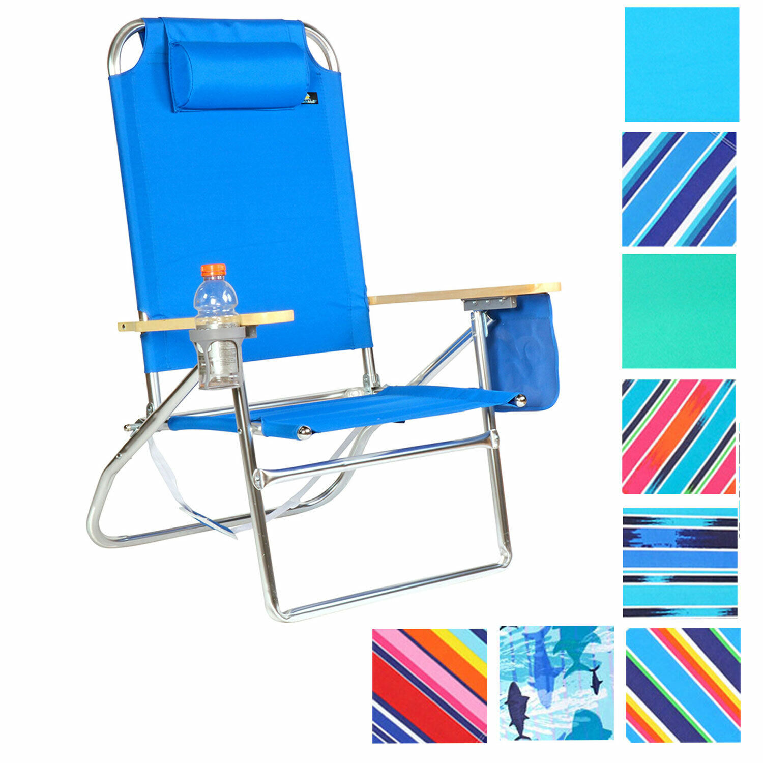 Best Beach Chair Extra Large High Seat Heavy Duty 4 Position Beach Chair W Drink Holder Wcp450 450