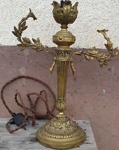 details sur lampe pied de lampe en bronze louis xvi h 35 cm