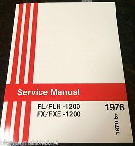 Harley FL & FX Service Manual 1970 to 1976 Shovelhead FLH FXE Wiring Diagrams | eBay