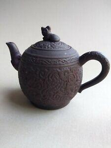 Antique Rare Chinese Zisha Yixing Teapot China 5in