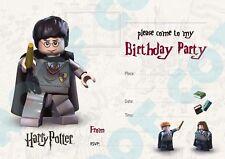 10 pack of lego birthday invitations