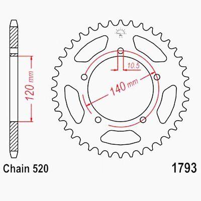 Sprocket 42zähne 520 Jtr1793.42 Suzuki Gsx-R 1000 Bl2112