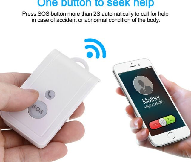 Gsm Sim Card Elderly Mobile Phone Sos Emergency Call Alarm System Panic Button D