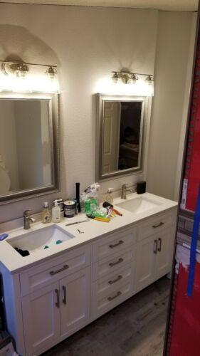 progress lighting inspiration 3 light brushed nickel bathroom vanity light