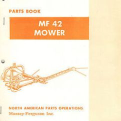 Massey Ferguson 240 Parts Diagram Maytag Dryer Wiring 42 Pitman Drive Mower Manual Mf 651 M92 Ebay Image Is Loading