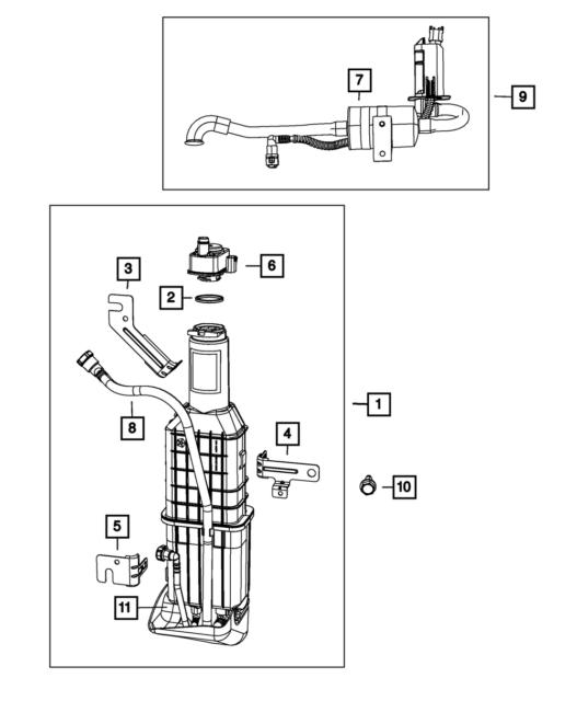 Dodge CHRYSLER Replacement Fuel Vapor Vent Filter OEM