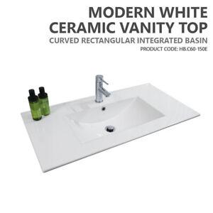 details about 600mm 750mm 900mm 1200mm 1500mm ceramic porcelain bathroom vanity basin top only