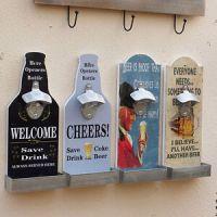 Wall Mounted Retro Beer Bottle Opener Cap Catcher UK | eBay