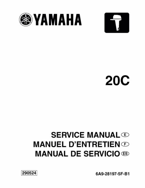 Yamaha Outboard service manual 20C / 20CMH 1st Edition